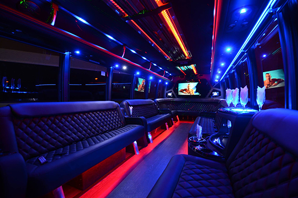 40 passenger party bus rental Newark